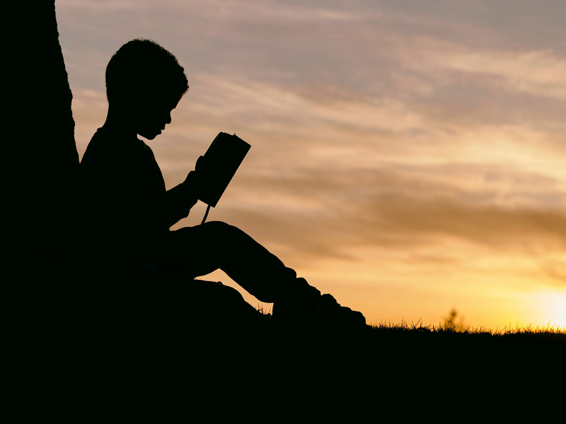 Young Child Reading Bible