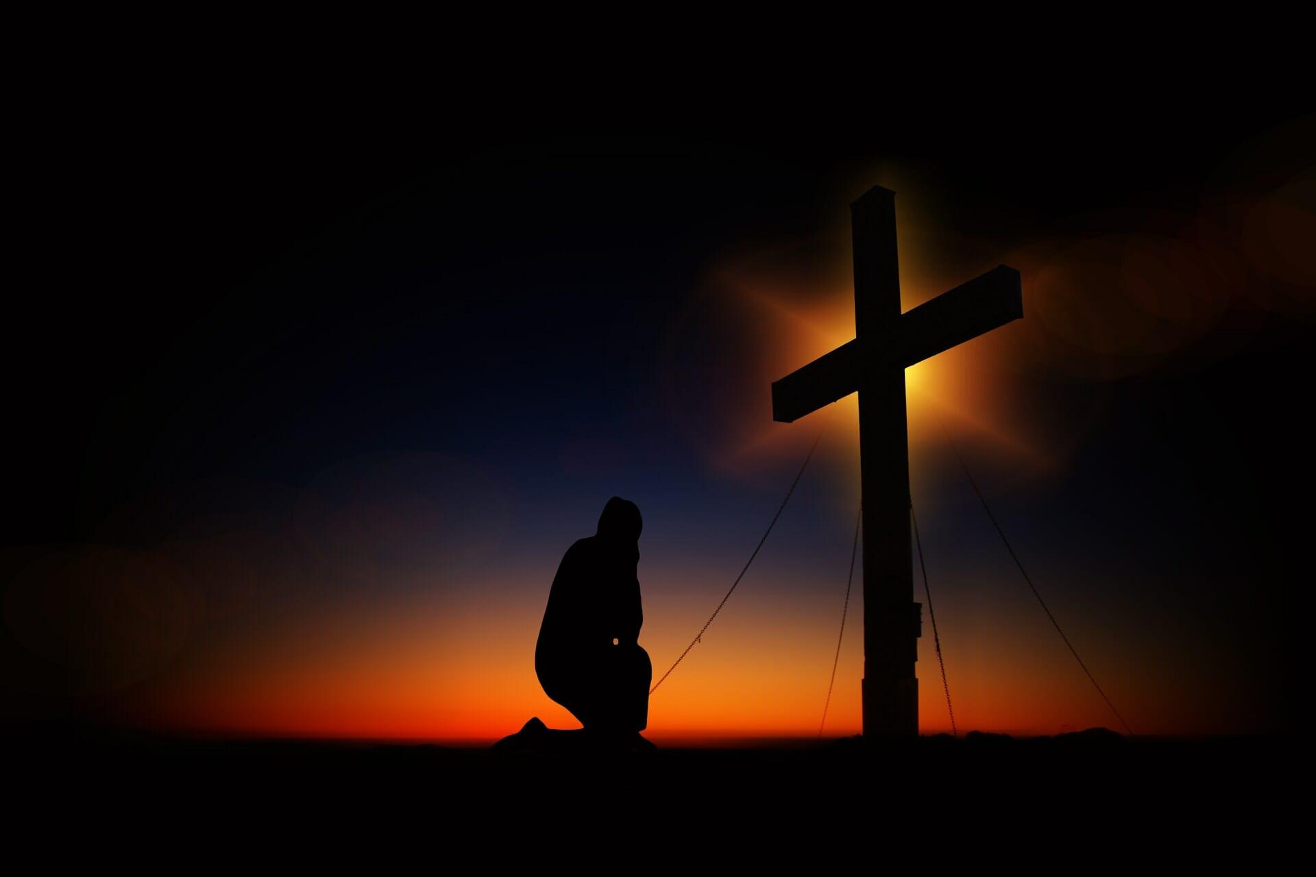man at cross